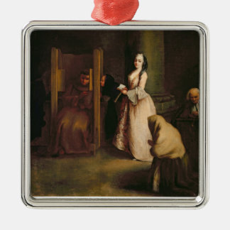 The Confession, c.1755 (oil on canvas) Metal Ornament