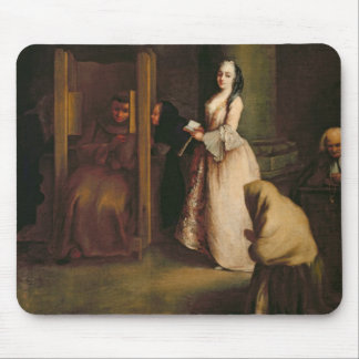 The Confession, c.1755 (oil on canvas) Mouse Pad