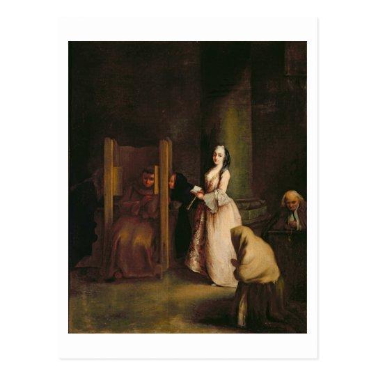 The Confession, c.1755 (oil on canvas) Postcard