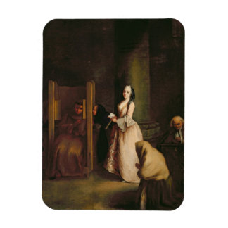 The Confession, c.1755 (oil on canvas) Rectangular Photo Magnet