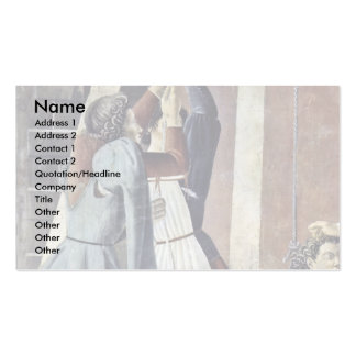 The Confession Detail By Piero Della Francesca Business Card