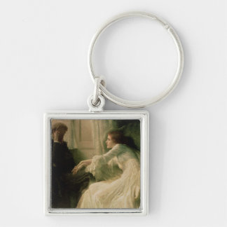 The Confession Silver-Colored Square Keychain