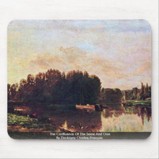 The Confluence Of The Seine And Oise Mouse Pad