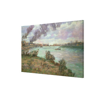 The Confluence of the Seine and the Marne at Ivry Canvas Print