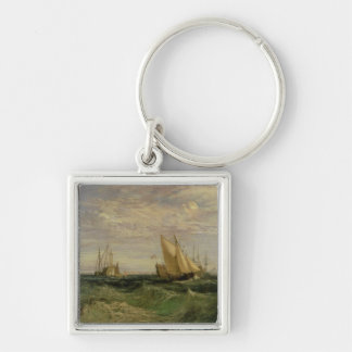 The Confluence of the Thames and the Medway Silver-Colored Square Keychain