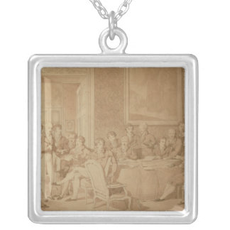 The Congress of Vienna, 1815 Square Pendant Necklace