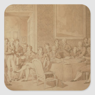 The Congress of Vienna, 1815 Square Sticker