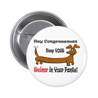 The Congressmans Weiner Button