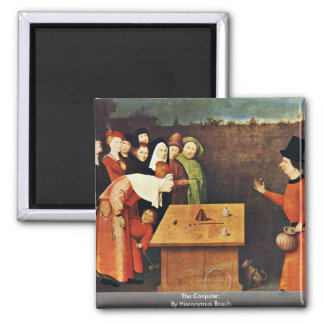 The Conjurer. By Hieronymus Bosch Fridge Magnets