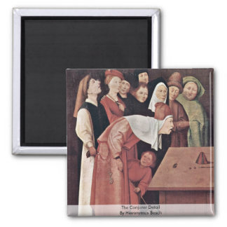 The Conjurer Detail. By Hieronymus Bosch 2 Inch Square Magnet