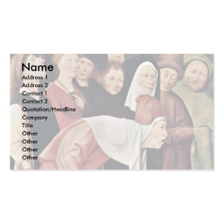 The Conjurer Detail. By Hieronymus Bosch Double-Sided Standard Business Cards (Pack Of 100)