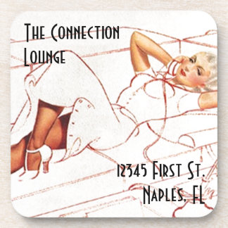 The Connection Lounge Vintage Pin-up Style Coaster