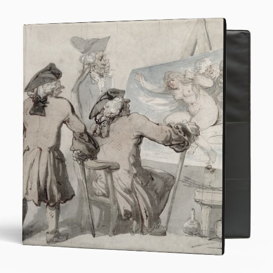 The Connoisseurs, c.1790 (pen, ink and w/c over gr Binder