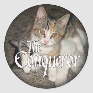"""The Conqueror"" Kitten Stickers"