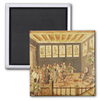 The Conquest of Mexico 2 Inch Square Magnet