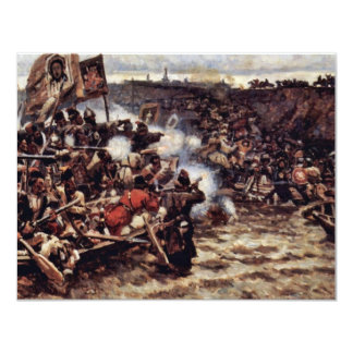 """The Conquest Of Siberia By Yermak By Surikow Wassi 4.25"""" X 5.5"""" Invitation Card"""