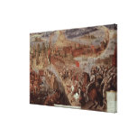 The Conquest of Tenochtitlan Canvas Print