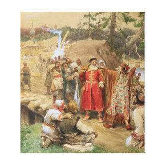 The Conquest of the New Regions in Russia, 1904 Canvas Print