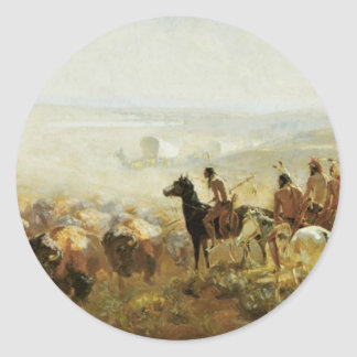 The Conquest of the Prairie Classic Round Sticker