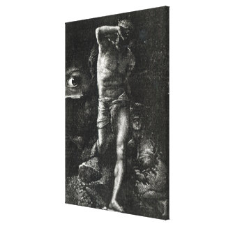 The Conscience or, The Eye Watching Cain Canvas Print