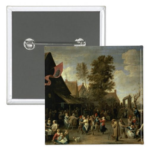 The Consecration of a Village Church, c.1650 2 Inch Square Button