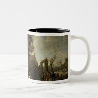 The Consecration of a Village Church, c.1650 Two-Tone Coffee Mug