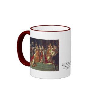 The Consecration of the Emperor Napoleon 1 Ringer Coffee Mug