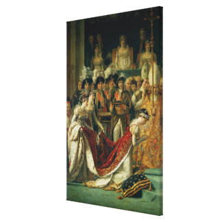 The Consecration of the Emperor Napoleon Canvas Print