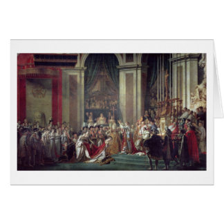 The Consecration of the Emperor Napoleon Card
