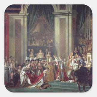 The Consecration of the Emperor Napoleon Square Sticker