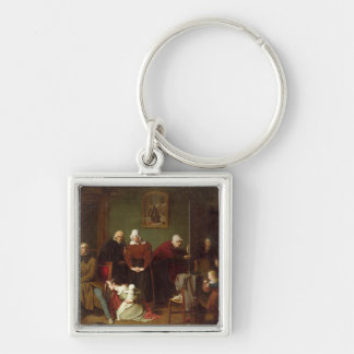 The Consequences of the Seduction, 1824 Silver-Colored Square Keychain