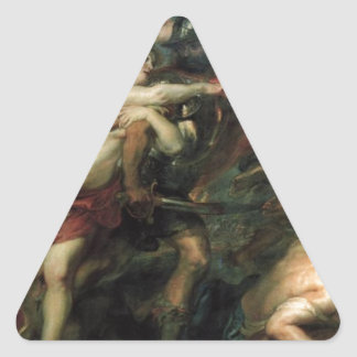 The Consequences of War by Peter Paul Rubens Triangle Sticker