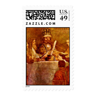 The Conspiracy Of The Batavian Detail By Rembrandt Postage Stamps