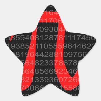 The Constant Pi Star Sticker
