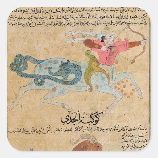 The Constellations of Sagittarius and Square Sticker