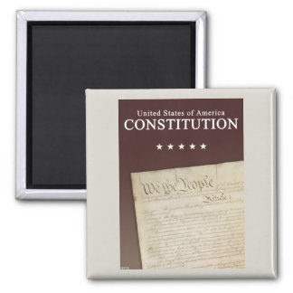 The Constitution 2 Inch Square Magnet