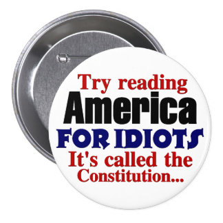 The Constitution: America for Idiots 3 Inch Round Button