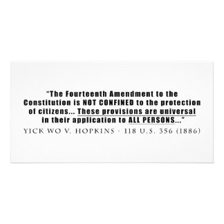 The Constitution Applies to ALL PERSONS Card