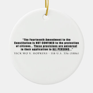 The Constitution Applies to ALL PERSONS Christmas Tree Ornaments