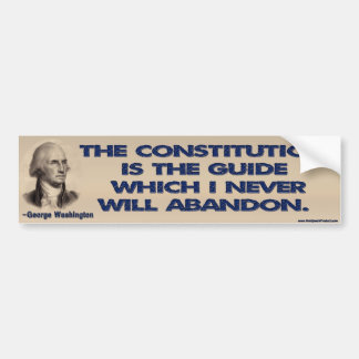 The Constitution is The Guide Bumper Sticker