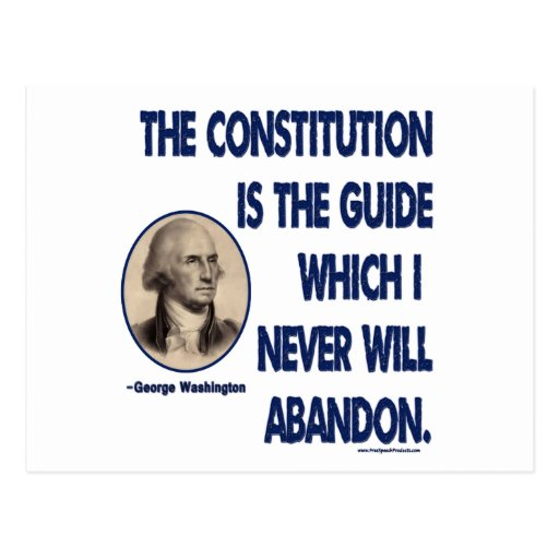 The Constitution is The Guide Postcard