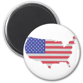 The Constitution of the U.S. Shaped as America Magnet