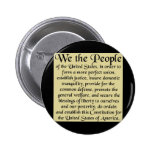 The Constitution of the United States of America Pinback Buttons