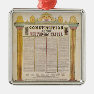 The Constitution of the United States of America Metal Ornament