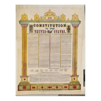The Constitution of the United States of America Postcard