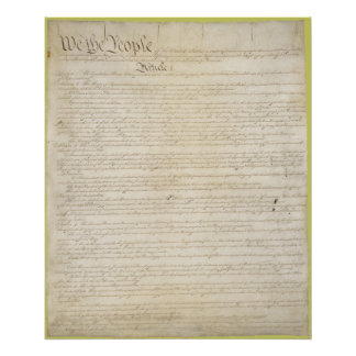 The Constitution of the United States of America Poster