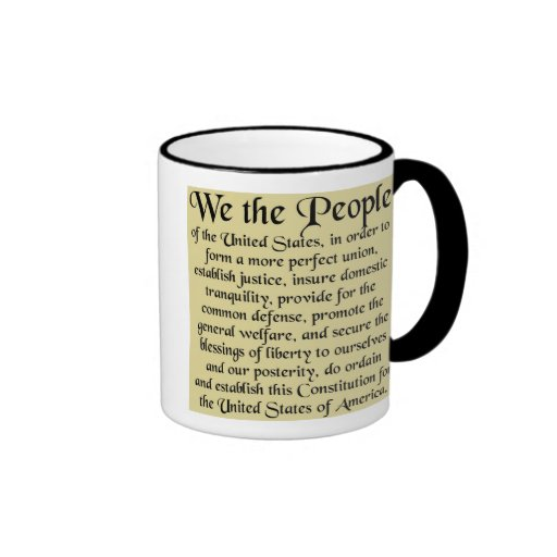 The Constitution of the United States of America Ringer Coffee Mug