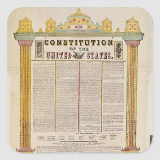 The Constitution of the United States of America Square Sticker