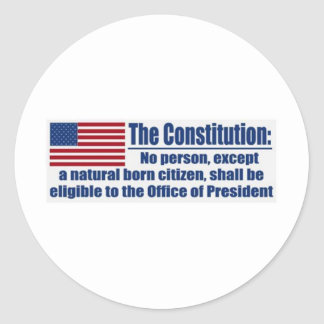 The Constitution Says.... Classic Round Sticker