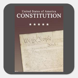The Constitution Square Sticker